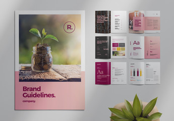 Pink and Black Brand Guide Brochure Layout