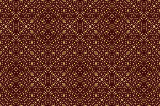 Seamless pattern with abstract geomatric vector, indonesian batik motif