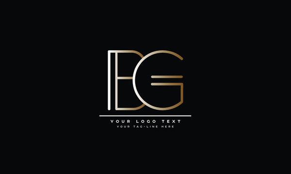 BG ,GB ,B ,G  Letter Logo Design with Creative Modern Trendy Typography