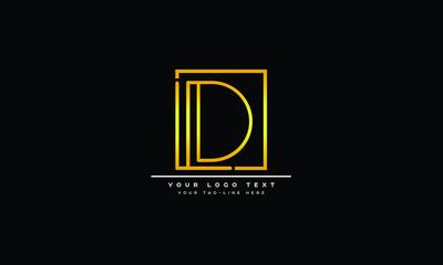Obraz LD ,DL ,L ,D  Letter Logo Design with Creative Modern Trendy Typography - fototapety do salonu