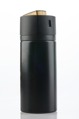 Generic black color spray can