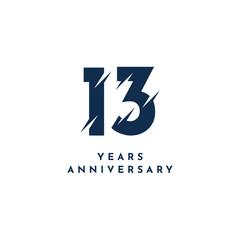 13 Years Anniversary Template Design