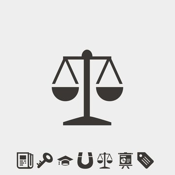 balance scale icon vector illustration and symbol foir website and graphic design