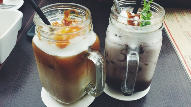 Two Iced Coffees