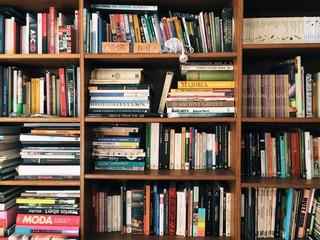 Fototapeta Full Frame Shot Of Books In Shelves obraz