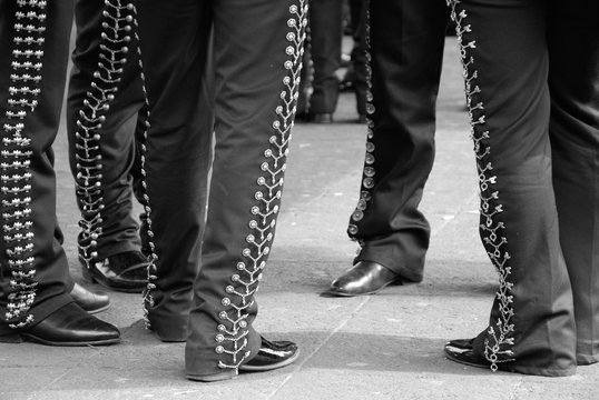 Low Section Of Mariachis Standing At Plaza Garibaldi