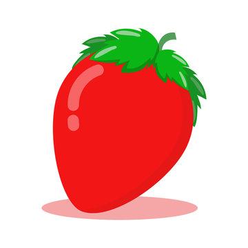 vector illustration of fresh stawberry fruit