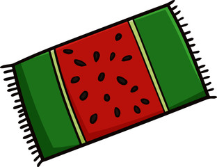Funny and cutedecoration, home, foot, funny, cool, fresh, watermelon, element, simple, flat, concept, object, isolated, symbol, icon, amusing, cartoon, casual, comical, c with watermelon picture on it