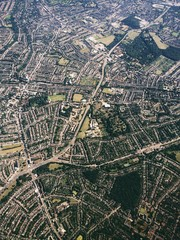 Printed kitchen splashbacks Nasa Aerial View Of Cityscape