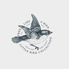 Vintage bird label