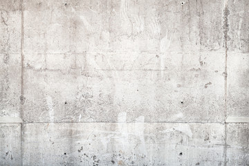 Fototapete - Light gray concrete wall, front view, background texture