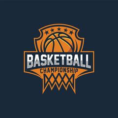 Basketball logo emblem. Basketball Team Sport Logo