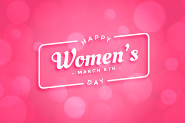 beautiful pink happy womens day background design