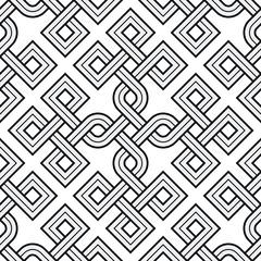 Viking Seamless Pattern - Engraved Gold - Rings -Square Edges