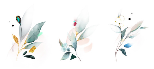 Liście, ilustracja botaniczna