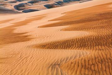 Desert sand patterns. Arid landscape of the Sahara desert