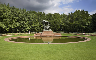 Monument  to Frederic Chopin at Royal Baths park (Lazienki park) in Warsaw. Poland