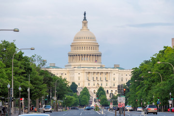 The United States Capitol Building from Pennsylvania Avenue, Washington DC