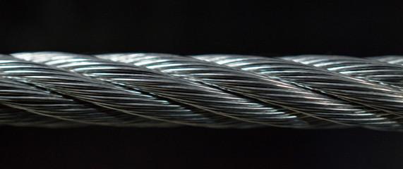 Printed kitchen splashbacks Beige steel cable section