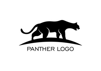 Panther silhouette logo on a white background.