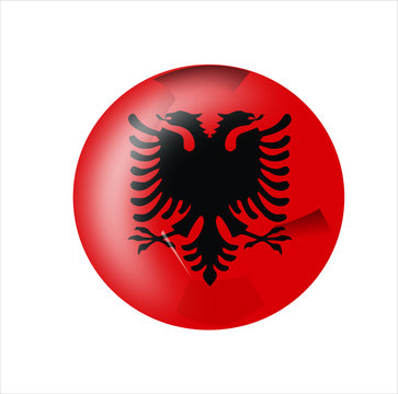 albania flag icon with white background