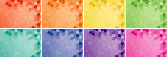 Background design with hexagon patterns