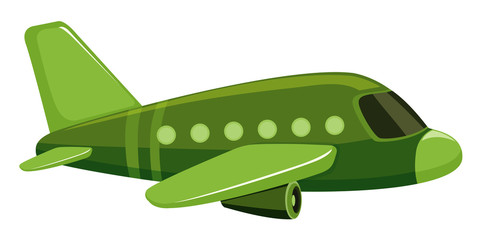 Single picture of green jet plane