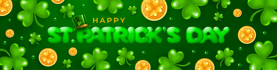 Saint Patricks Day Horizontal Banner