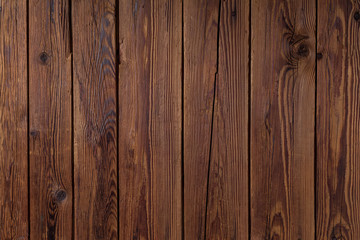 Textura de pranchas de madeira escura rústica envelhecida na vertical. Fototapete