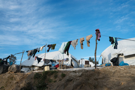 Mori camp in Lesbos