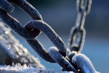 Fototapeta Close-Up Of Frost On Chain obraz