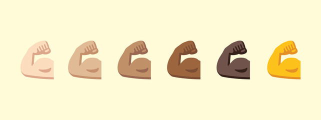 Biceps vector isolated icon illustration. Biceps emoji icon stock illustration