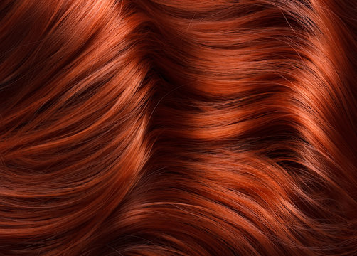 wavy bright red hair texture