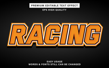Wall Mural - Racing style editable text effect