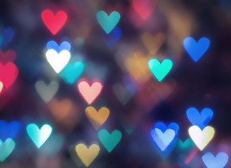 red hearts bokeh as background Wall mural
