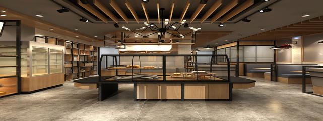 3d render of bakery house Fototapete