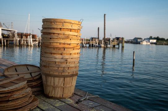 Bushel baskets for Maryland blue crabs