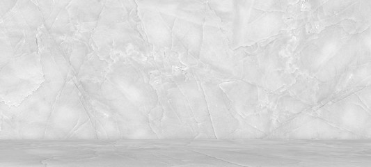 White marble flooring for interior decoration, used as studio background wall to display your products.