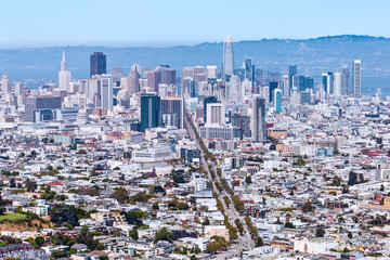San Francisco skyline and downtown financial district, California