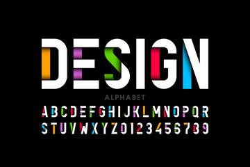 Estores personalizados con motivos artísticos con tu foto Modern style font, alphabet letters and numbers