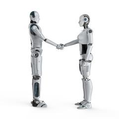 Cyborg or robot hand shake