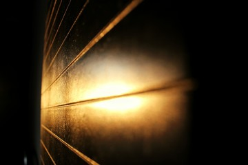 Fototapeta Sunlight Reflecting On Metal During Sunset