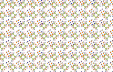 seamless pattern of arrows with green, pink, gray and orange colours. Geometric design template with simple symmetric ornament. for carpet, surface design, fabric, textile, banner or wrapping paper Wall mural