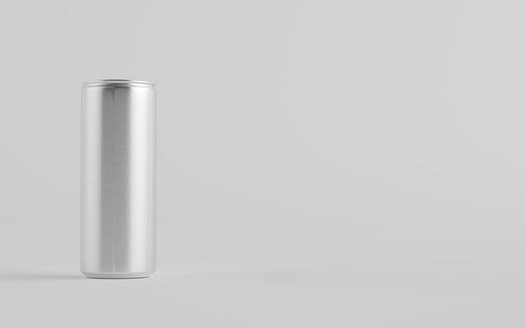 8 oz. / 250ml Aluminium Soda / Energy Drink / Seltzer / Iced Coffee Can Mockup - One Can.  3D Illustration