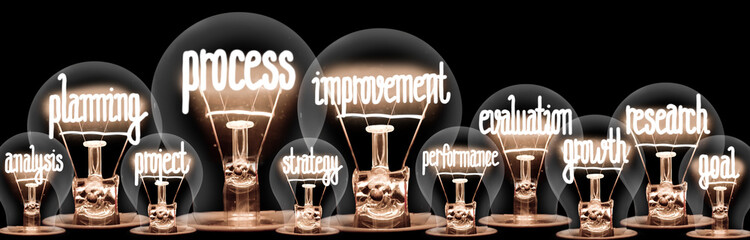 Light Bulbs with Process Improvement Concept