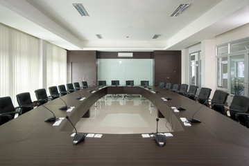 Big interior of meeting room / conference room in modern office