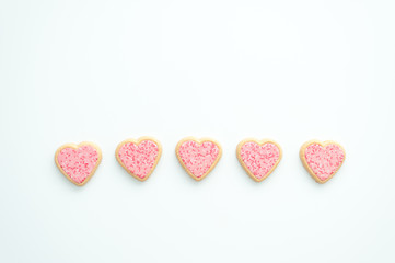 Galletas de corazón para San Valentín