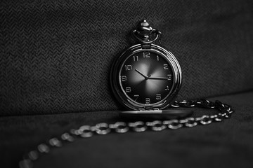 Analog Pocket Watch with Chain of Time