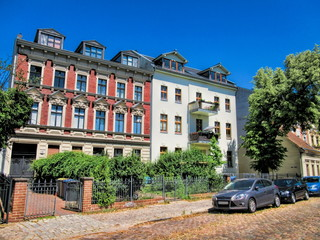 Fotomurales - berlin, deutschland - sanierte altbauten in friedrichshagen