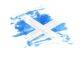 Abstract grunge Scotland flag
